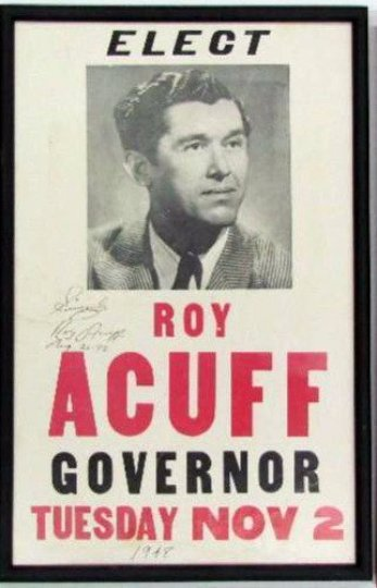 for sheriff roy acuff