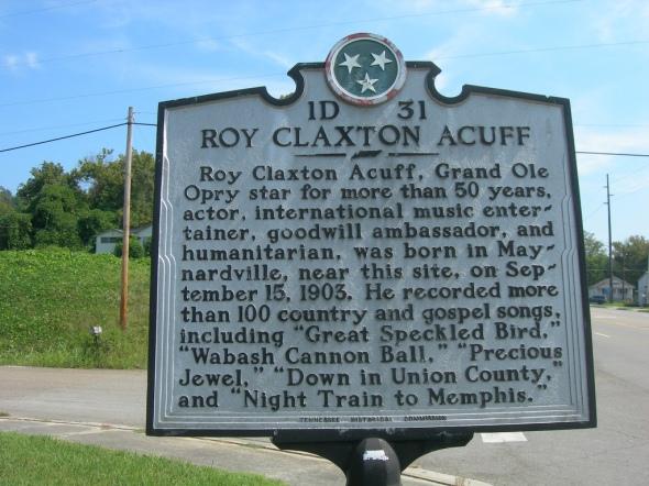 historical marker Maynardsville TN Roy Acuff
