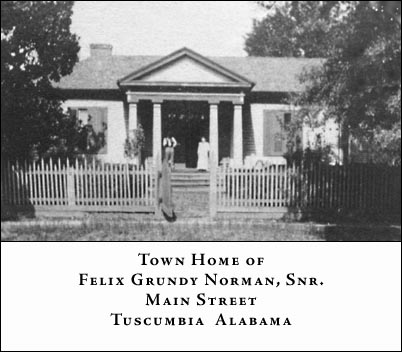 Norman home in Tuscumbia, Alabama